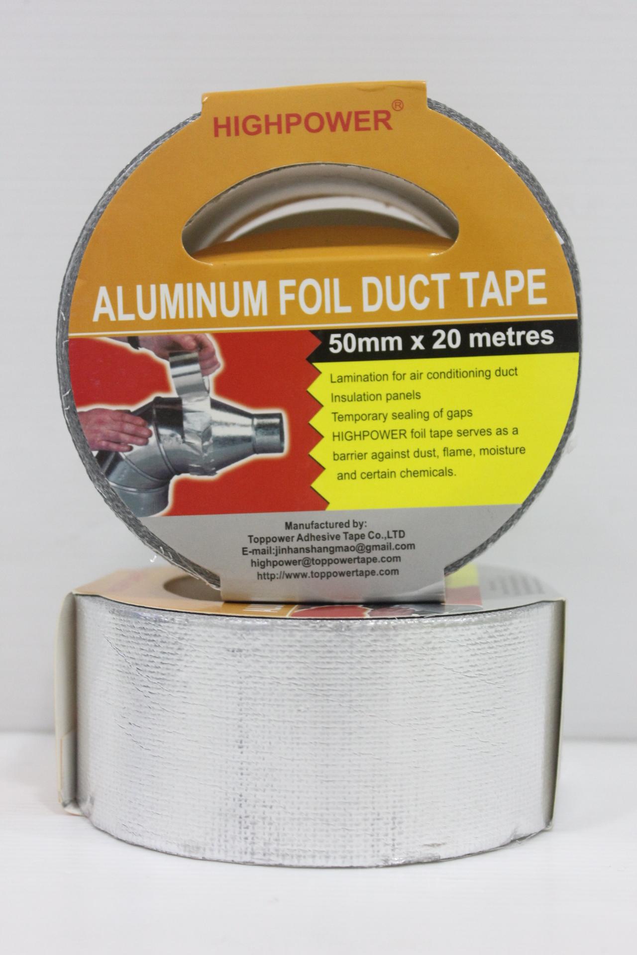 ALUMINIUM FOIL DUCT TAPE - 50MM X 20M - A-Tech